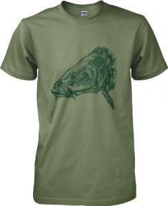 360Pêche–Big T-Shirt de pêche à la Carpe–Taille S au 2x L – Vert –