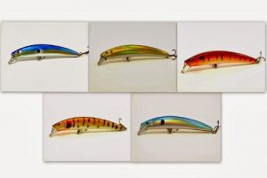 Akuna Lot de 5Crawler Série 13,5cm Minnow Leurre de pêche, métal