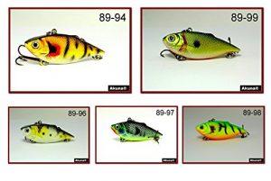 Akuna Lot de 5Rattlin 'Rover Lipless Série 6,3cm Naufrage Leurre de pêche [Bp-5-fla-89-a]