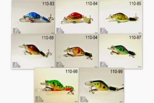 Akuna Lot de 8Wobbler Série 6,6cm NE coule articulé Leurre de pêche, Holographic