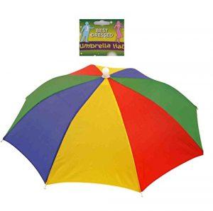 Chapeau de Parapluie d'Arc-en-Ciel Casquette Parasol Anti-UV Multicolore pour Pêche Randonnée Plage Pédestre Excursion Extérieur ( Couleur : #1 )