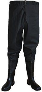 Cuissardes de pêche , pantalons de pêche, waders NOIR 44 EU , Haute Qualité, pantalons de pêche, Cuissardes la taille, waders la taille