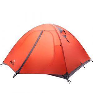 Équipement d'extérieur résistant aux intempéries équipement extérieur Alpinisme Camping tente trois en aluminium double Pole