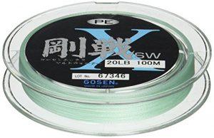 Gosen X l'eau salée PE Ligne tressée Frost Vert 150m 15,9kilogram Gl70135