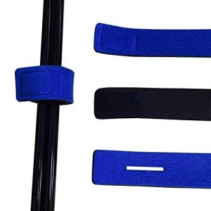 HATCHMATIC 1 PCS pêche Harnais Poissons d'attrait Bande élastique protéger la pêche Guide Rod Anneau en Plein air Pêche Plaquage: Bleu