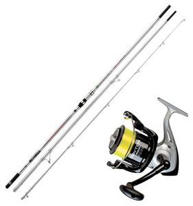 Kit canne surfcasting Mitchell Avocet powerback 4,50 m 100 – 250 gr + Moulinet Dayton 6500