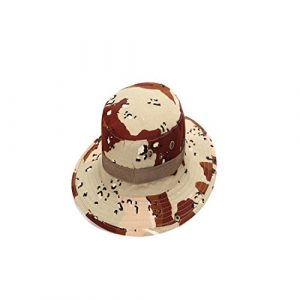 laamei 1 Pcs Chapeau de Soleil Camouflage Protection UV Chapeau de Pêcheur pour Hommes et Femmes Voyage Randonnée Style E