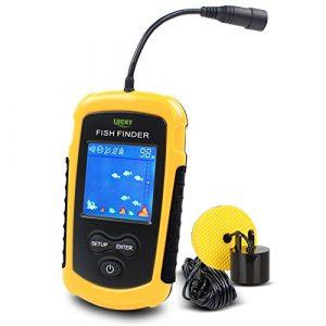 Lucky Fish Finders Alarme 100M / 328ft sonde portative de Sonar de pêche Filaire Détecteur de Profondeur LCD Echo Sounder