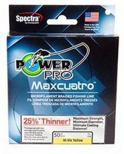 Power Pro 33400803000e Maxcuatro tressée Ligne de pêche, 36,3Kilogram/2743,2m, Vert Mousse