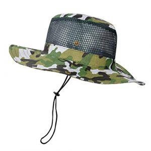 Robluee Chapeau de Camouflage Militaire Chapeau de Soleil Sun Hat pour été en Plein Air Randonnée Pêche Jardinage Chasse Camping