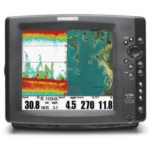 Sondeur Echo Radar Pêche FF1158c HD-XD Sonde Traversante Plastique & Température