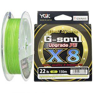 YGK G Soul x8Upgrade PE Braid 1.0/22LB/150m