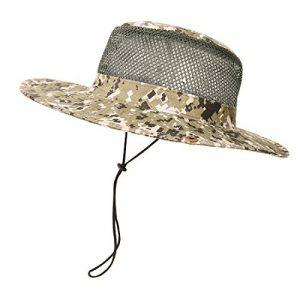 Ymysfit Chapeau de Camouflage Militaire Chapeau de Soleil Aux Bords Arrondis Boonie Sun Hat pour été en Plein Air Randonnée Pêche Jardinage Chasse Camping