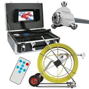ZY 120M égout étanche caméra Tuyau Drainage système de détection Tuyau Industriel Endoscope 7″LCD DVR HD 1000TVL LCD