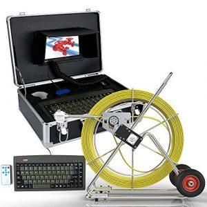 ZY Pipescope 100M égout étanche caméra Tuyau système de détection de Drainage 7″LCD DVR avec Compteur de Longueur et Le Clavier