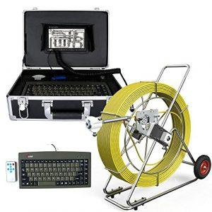 ZY Pipescope 160M égout caméra étanche Tuyau système de détection de Drainage 7″LCD DVR avec Compteur de Longueur et Le Clavier