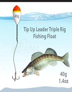 40g Running Float Pêche Tip up Fonde Triple Crochet 1/0Acier Rig 30cm–Pike, Poisson Chat, la Truite