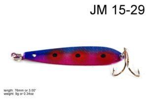 Akuna [JM 15 7,6cm Cuillère à la pêche à la traîne Leurre de pêche, Single, Purple Rain