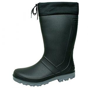BOCKSTIEGEL® AXEL Hommes – Bottes en caoutchouc de haute qualité (Tailles: 36-47), Couleur:black/dk-grey;Taille:43