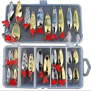 Generic Lot de 2 leurres pour pêche 226 Leurre de pêche 226 et Bouchons de pêche Idéal pour brochet, Truite, Saumon, Saumon, Saumon et boîte à appâts Souples