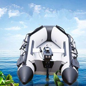 Jomax Outdoor Leisure Bateau de pêche Épaissi Petite Aéroglisseur Bateau gonflable + pratique pour auvent pour Seven-person Bateau