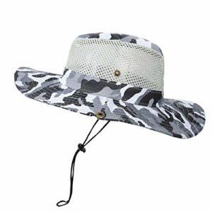 Ymysfit Chapeau de Camouflage Militaire Chapeau de Soleil Sun Hat pour été en Plein Air Randonnée Pêche Jardinage Chasse Camping