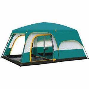 HAIMEI-WU Moulinet de pêche Tente de Pique-Nique Camp Plein air, Deux Chambres, Vertes, Froid, Fort, Tente Coupe-Vent, Magnanime 8 Personnes 10 Personnes 12 Personnes