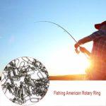 HIPENGYANBAIHU Connecteur De Pêche en Acier Inoxydable avec Snap Crochet À Poisson Leurre Connecteur Roulement Roulant Pivotant Snap Pins Accessoires De Pêche