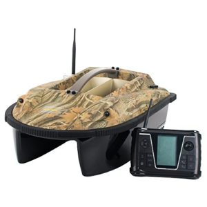 CARP DESIGN Bateau Amorceur Carpe Wave Craft Camo V2.0, 2 Moteurs Haute Performance, Double hélices, télécommande 2.4Ghz Digitale, Technologie « Duplex Two Wave », Renfort de Protection PVC.