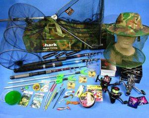Filet de pêche pour pêche en S, 3 Canne à pêche 3 Rouleaux, 3 Rouleaux de pêche, 3 tringles et Accessoires