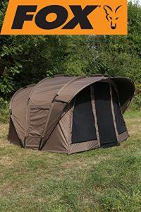 Fox Retreat + Ripstop 2-on Angel Tente + Tente intérieure pour la pêche, pêche à la carpe, pêcheur de Tente, 2Bonhomme de Tente Tente pour 2Personne pour Nuit Pêche