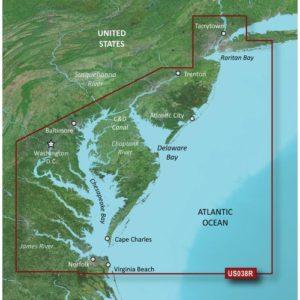 GARMIN VUS038R NEW YORK TO CHESAPEAKE BLUECHART G2 VISION