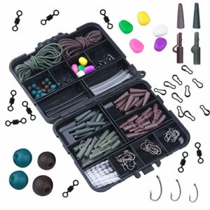 Generic * Fishin Laisse de sécurité pour pêche à la Carpe F pêche à la Carpe en Plomb Saf Rig Pivots Crochets Pince Perles Crochets