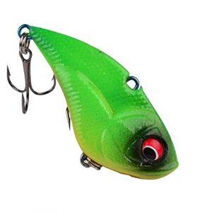HATCHMATIC 1pcs 5cm Vibration Pêche VIB 13,6 g Lure Pêche Douce Wobbler Crank Artificielle Japon Pêche de Pesca Tackle Pesca: 02