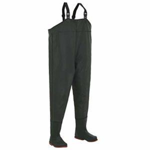 hualiyuyuan Pantalon échassier avec Bottes Vert Pointure 44