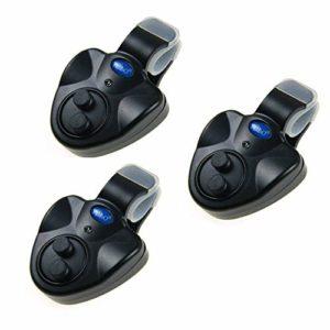 Lot de 3 détecteurs de Touche de pêche électronique avec détecteur de Touche LED
