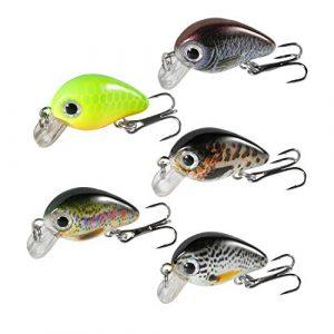 Magreel Mini Leurre Pêche, Leurre Truite, Kit de leurres VIB, Leurre Pêche Carnassier pour la Truite – Lot de 5