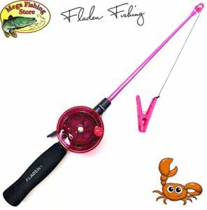 Mega Fishing Canne à pêche pour Enfant avec Cancer 40 cm – Noir/Vert/Rose, Rose Bonbon