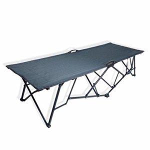 Mopoq Fauteuil inclinable déjeuner en Plein air lit Rabattable à Plat Pause lit Simple Camp lit de Camping Self-Driving lit de Plage