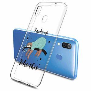 Oihxse Clair Case pour Samsung Galaxy S10E/S10 Lite Coque Ultra Mince Transparent Souple TPU Gel Silicone Protecteur Housse Mignon Motif Dessin Anti-Choc Étui Bumper Cover (A16)