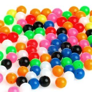 OTS Lot de 100 Perles de 6 mm pour la pêche, Multicolores. Idéal pour la pêche en mer, en Bateau et sur la Plage.