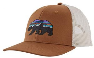 Patagonia Fitz Roy Bear Trucker Hat, EWBN Marron, Taille Unique