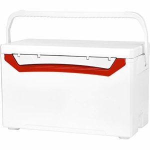 Pêche Seau, Boîte de pêche Accessoires de pêche Robuste et équipement Organisateur à Compartiments Multiples Option Multi-Couleurs Facile à Stocker et à Utiliser (Color : Red, Size : 69x32x40cm)
