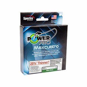 Pro Power Power Pro 33400653000e Maxcuatro tressée Ligne de pêche, 29,5kilogram/2743,2m, Vert mousse