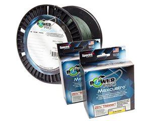 Pro Power Power Pro 33401003000e Maxcuatro tressée Ligne de pêche, 45,4kilogram/2743,2m, Vert mousse