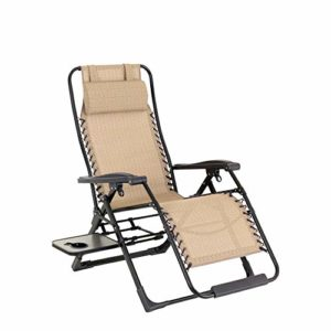 Ramingt-Outdoor Sports Chaise de pêche Portable Zero Gravity Lounge Chair Recliners for Les détenteurs Patio, Piscine avec la Coupe siège extérieur