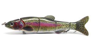 Swimbait multi articulé attrait de pêche à la truite modèle réaliste et nager action pour le brochet, la perche, le sandre et basse 160mm 40 grammes