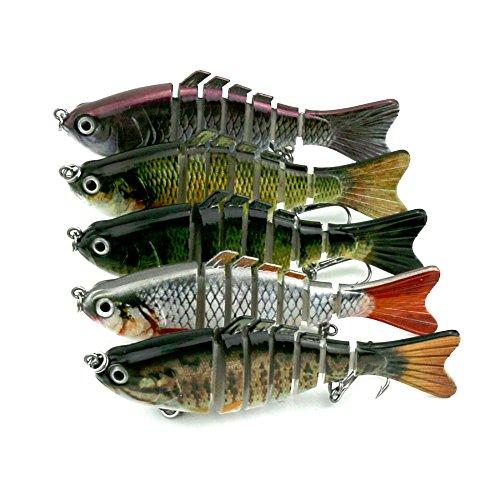 WDDDYYE Pêche Appât/Leurres de peche/50 Pc 7 Segment Nager Appâts Pêche Wobbler 15.4 G Réaliste Manivelle Appâts Pêche Leurre Artificielle Dur Appâts De Pêche