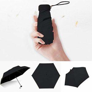 ZJF Pocket Mini Regenschirm Regen Frauen Winddicht Langlebig 5 Faltbare Sonnenschirme Tragbare Sonnencreme Weiblicher Sonnenschirm Regenschirm, D.