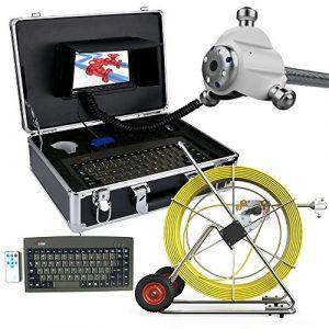 ZY Pipescope 120M égout caméra étanche Tuyau système de détection de Drainage 7″LCD DVR avec Compteur de Longueur et Le Clavier